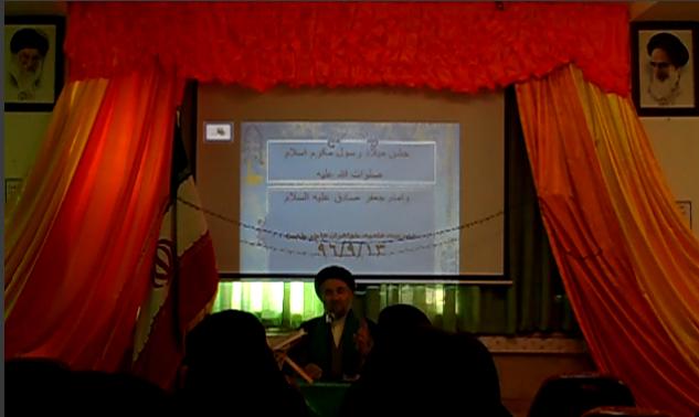 امام جمعه ی محترم  شهرستان خمین درجشن مدرسه علمیه خواهران هاجر خمین