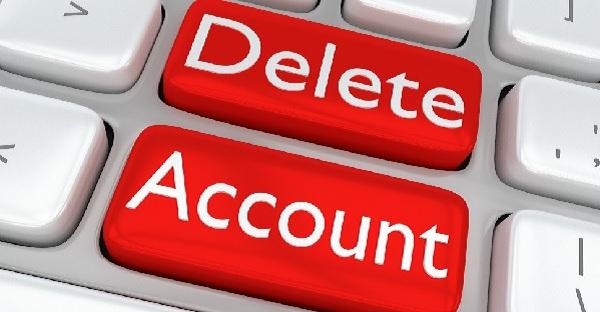 حذف حساب کاربری