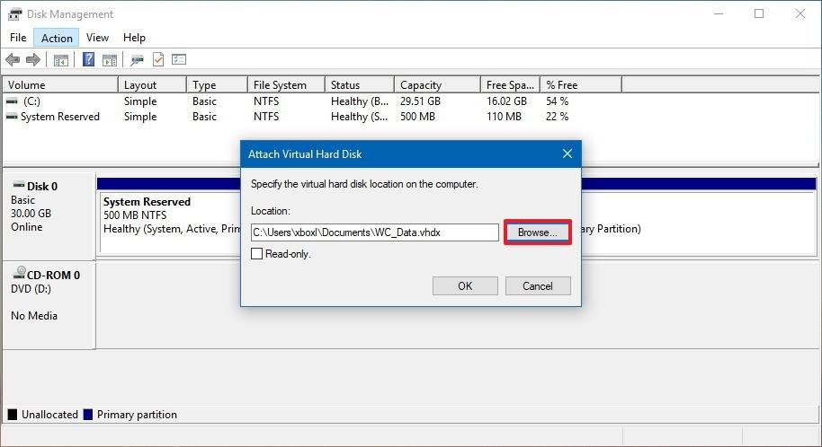 چگونه یک هارد دیسک مجازی در ویندوز 10 ایجاد کنیم؟