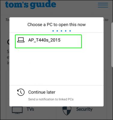 انتقال صفحه وب از گوشی به کامپیوتر