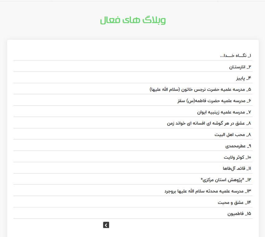 لیست کامل رتبه وبلاگ ها