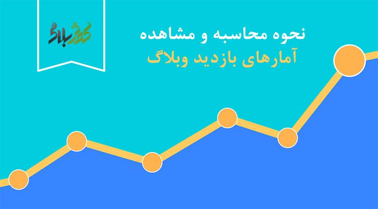 محاسبه و مشاهده آمارهای بازدید وبلاگ