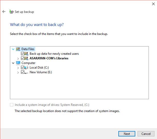 5 آموزش بکاپ گرفتن از کل اطلاعات ویندوز 10